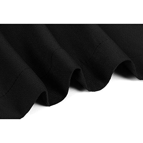 a2ec7c0b427c ELFIN® Damen Mantel knielang, Trenchcoat mit Taschen und Taillengürtel,  Cardigan Lang und Kurz Schwarz
