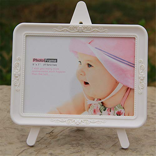 Candicely Bilderrahmen 7-Zoll-Creative-Kind-Baby-Set Tabelle Photo Frame European Cartoon-Foto-Rahmen für Tabletop Display (Farbe : Rosa) -
