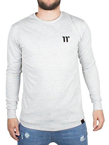11-degrees-herren-composite-logo-flecked-longsleeved-t-shirt-grau-large