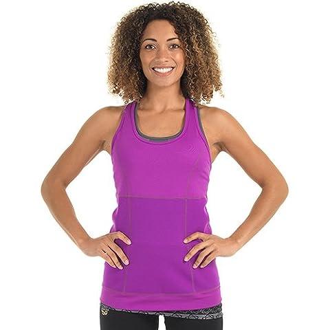 Zaggora hottop perdita di peso in neoprene Fat Burn Canottiera da donna, colore: viola, donna, Purple, XXL - Burner Tee