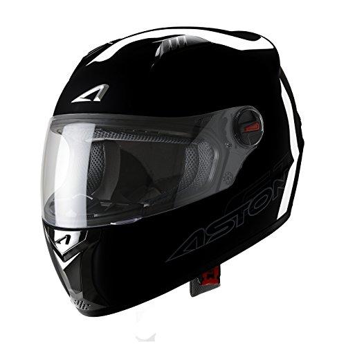 Astone Helmets Casque Intégral GT, Noir Brillant, XS