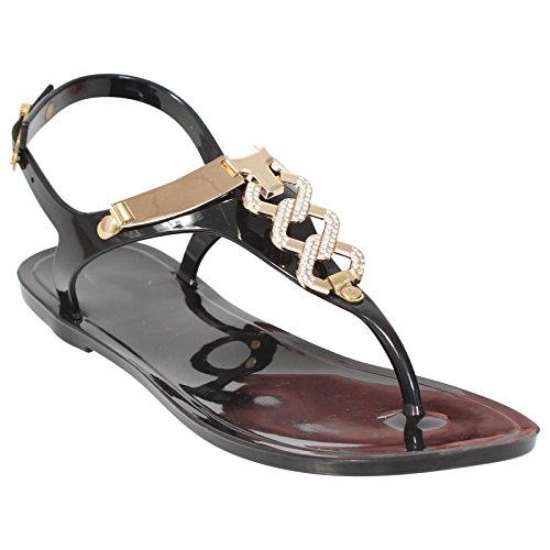 retro-jelly-sandals-ladies-womens-flat-girls-summer-beach-flip-flops-shoes-size-uk-4-black