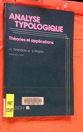 Analyse typologique : Théories et applications par Georges Chandon
