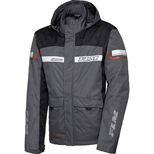 FLM Regenschutz, Regenjacke Reise Membran Regenjacke modular 1.0 schwarz/grau XL, Herren, Enduro/Reiseenduro, Ganzjährig, Textil
