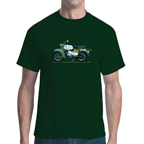 DDR Ossi unisex T-Shirt - Motiv: Simson Habicht SR4-4 by Im-Shirt Bottle Green