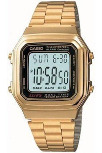 Quarz Uhr mit Edelstahl Armband A178WG-1A ()