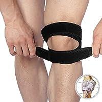 GSS-Rodillera Protectores de Rodillas Deportivos Presión Fija Tibia con Soporte de Rodilla Estabilizador de Artritis Ajustable (Edición : B)