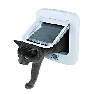 Trixie 4-Way Cat Flap, 23 x 26.5 cm, White