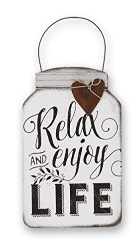 DG Shopping Spree Relax und Enjoy Life Mini-Dose Mason Jar Schild