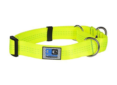 Canine Equipment 2,5cm Technika alle Gurtband Martingale Hundehalsband, Large, Neon Gelb (Kragen Choke Ausbildung)
