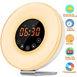 Wake Up Light, kungfuren Sunrise Alarm Clock Light with 6 Natural Sounds,Wake-Up Light