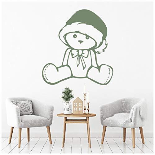 azutura Teddy in Santa Hut Festliches Weihnachten Wandtattos Nach Jahreszeiten Dekor Art Decals verfügbar in 5 Größen und 25 Farben X-Groß Königliche Blau