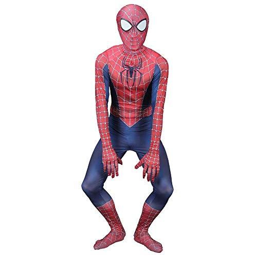 TENGDA Erwachsene Kinder Spider-Man Spiderman Classic Style Cosplay Kostüm Toby Spiderman Kinder Kostüm Weihnachten Halloween Rollenspiel Kleidung Children-130~140,120~130 - Spiderman Maske Und T Shirt Kostüm Set