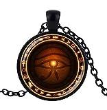 Collar colgante símbolo egipto ojo d'horus udjat, protección.