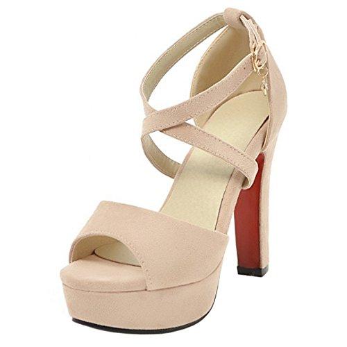 COOLCEPT Mujer Moda Correa de Tobillo Sandalias Cerrado Tacon Ancho Zapatos con Bowknot (33EU,White)