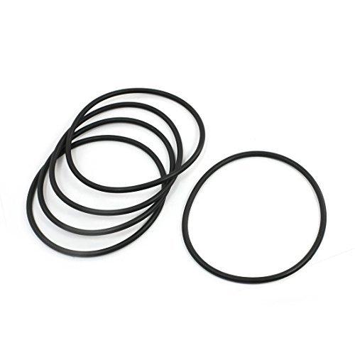 Preisvergleich Produktbild 5x 120mm Außen Dia 5mm Querschnitt Industrial Rubber O-Ringe Dichtungen