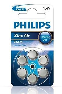 Philips ZA675B6A Extreme Life Pile pour aide auditive Zinc-Air (B0016J1LTS) | Amazon Products
