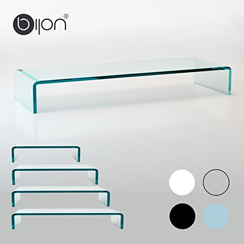 glasshop24 bijon® TV Glasaufsatz Monitor Erhöhung (B/T/H) 1000x300x130mm - klar