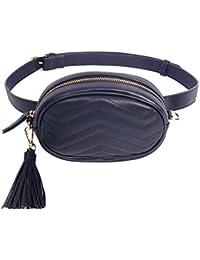Badiy Women Leather Waist Belt Bag Elegant Fanny Pack Cell Phone Money Pouch 0ea52a612d718