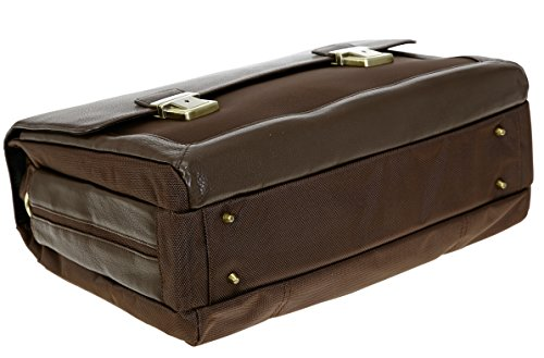 DERMATA Aktentasche Leder EXECUTIVE Ledertasche Laptoptasche 2825NYL + Mäppchen SCHWARZ Braun