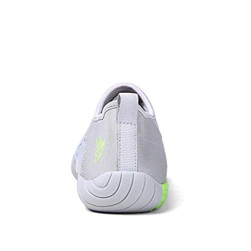 SGoodshoes Herren Strandschuhe Aqua Schuhe Sommer Breathable Schnell Trocknend Mesh-oberfläche Sportschuhe Laufschuhe Wasserschuhe Outdoor Grau