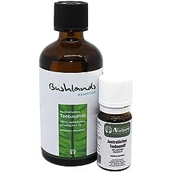 Bushlands essentials naturreines Teebaumöl 100ml + 10ml Reiseflasche