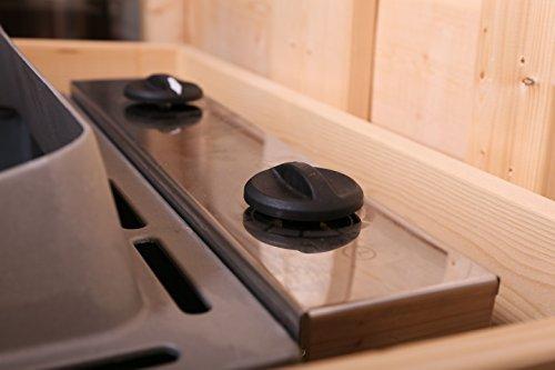 Karibu Saunaofen 9 kW integrierte Steuerung mit Steinen