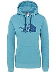 The North Face Drew Peak Felpa con Cappuccio, Donna, Blu (Storm Blue), M