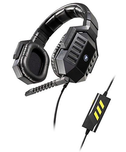 Snakebyte python:6600V Binaural Diadema Negro auricular con micrófono - Auriculares con micrófono (PC/Juegos, 7.1 canales, Binaural, Diadema, Negro, Alámbrico)