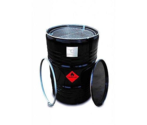 BARRELQ gran barbacoa barril O57 cm Acero inoxidable Fondo galvanizado