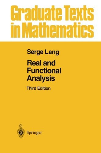 Real and Functional Analysis (Graduate Texts in Mathematics) by Serge Lang (2013-10-04)