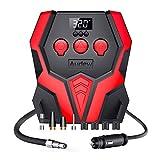 Audew Compressore Aria Portatile Auto Gonfiatore Pompa 120W DC12V 150PSI Per Pneumatici Auto, Camion, Bici, Materasso ad Aria ecc
