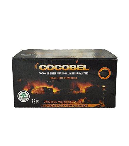 Carbón para shisha de Cocobel, natural, 1kg