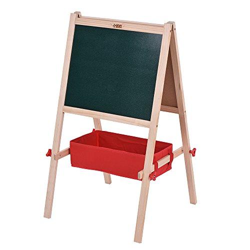 aibecy Kid Dual-Sided Magnettafel Rand weiß Position Board Bildung mit Magnetbuchstaben Marker Feld-Speichermodul Chalks (Kreide Board Stativ)