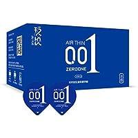 001 Condón-Hielo Cubierta De Fuego Condón Ácido Hialurónico, El Condón Más Delgado De Látex 2 Cajas (20 Paquetes),Blue