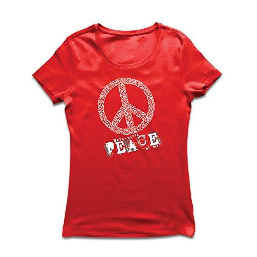 irt Willst du Stück von mir - Frieden Slogan, 60er 70er Hippie - Hippie Festivals, Hipster Swag (X-Large Rot Mehrfarben) (Last Minute Kostüme Für Die Besten Freunde)