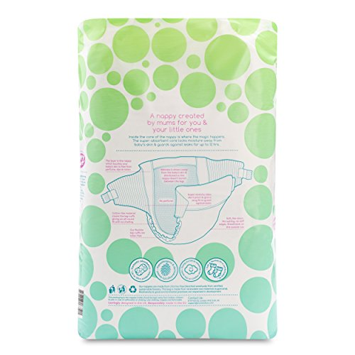 Mum & You Nappychat Eco-Nappies, Size 4, (58 Nappies). Up to 12 Hour Dryness. Hypoallergenic, Dermatologically Tested, no Perfumes/Lotion and Chlorine Free.