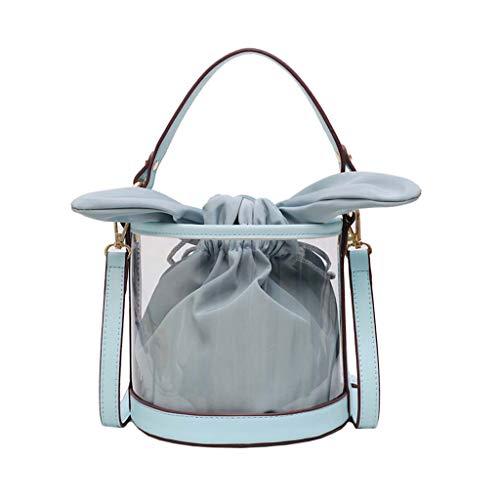 XZDCDJ UmhängeTaschen Damen Damen Mode Jelly Transparent Bag Composite Paket Tasche Umhängetasche Blau