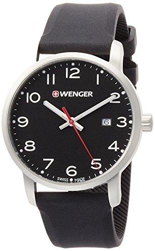 WENGER Reloj Analogico para Unisex de Cuarzo con Correa en Silicona 01.1641.101