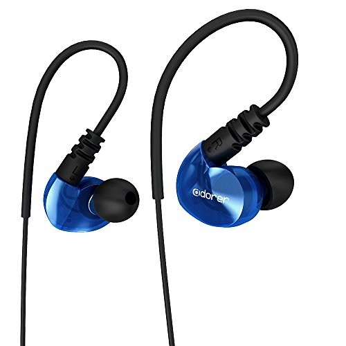 Blue earphones