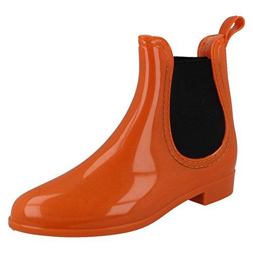 Ladies Spot On Floral Patterned PVC Wellington Boots X1182