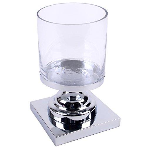 Windlicht Classica Design Metall-Glas 27x18x18cm silber