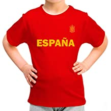 Lolapix Camiseta España roja Personalizada con Nombre y número. Camiseta de algodón. Regalo para