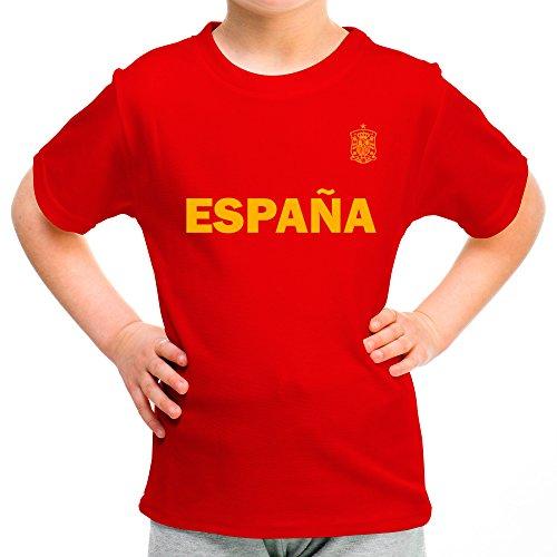 Lolapix Camiseta España Personalizada con tu Nombre y Dorsal | Selección Española | Varios...