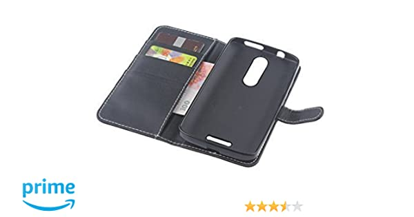 on sale 7c18a c75ab Allvinkart Flip cover for Moto X Style-Pu leather black color