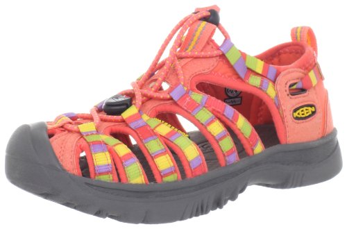 Keen WHISPER Y 1008582, Sandali unisex bambino, Rosso (Rot (RAYA HOT CORAL)), 39