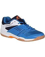 NIVIA Polyester Gel Verdict Badminton Shoes (Blue)