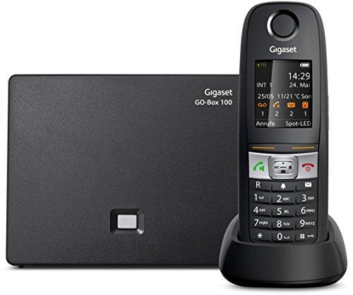 Gigaset E630A GO - Schnurlostelefon mit Anrufbeantworter - Analog und IP-Telefon, Fritzbox kompatibel, robustes Mobilteil mit wasserfester Tastatur - DECT-Telefon für Router, schwarz