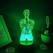 مصباح ليد وهمي ثلاثي الأبعاد ضوء ليلي يو إس بي أنيمي اليابانية الشكل رورورونوا زورو المولد هدية صديق غرفة نوم