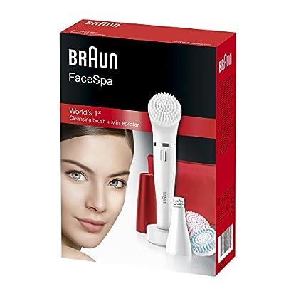 41zWIwkqOSL. SS416  - Braun Face 852 Edición Rubí - Cepillo de limpieza facial eléctrico y depiladora facial, con 4 accesorios
